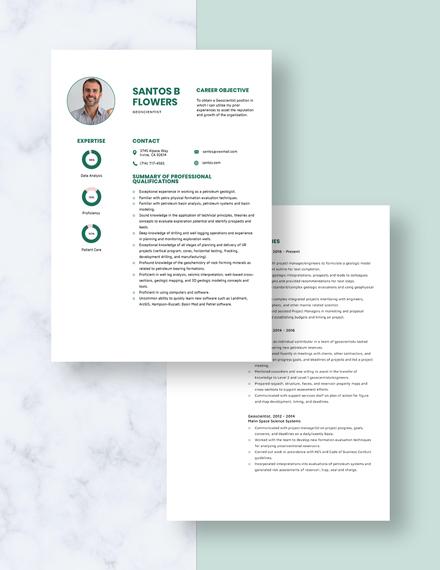 Geoscientist Resume Download