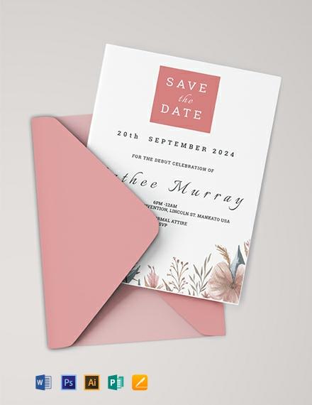 Free Sample Debut Invitation Card