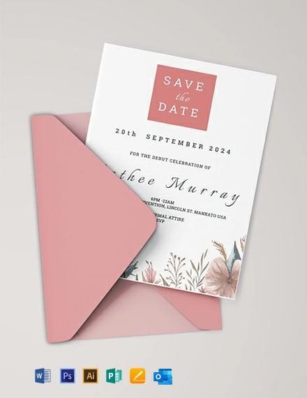 Sample Debut Invitation Card