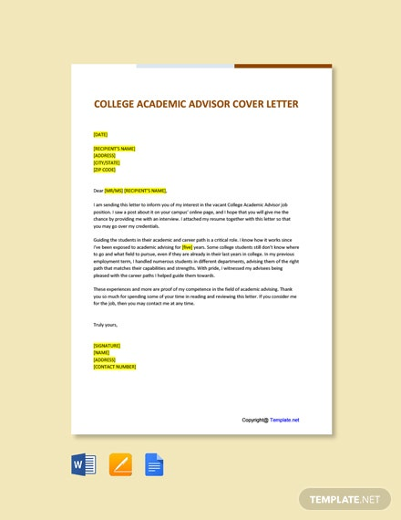 College Advisor Cover Letter from images.template.net