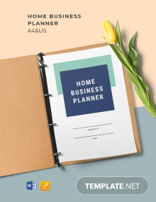 Home Business Planner Template