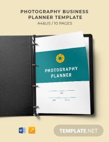 Photography Business Planner Template