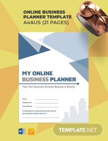 Online Business Planner Template