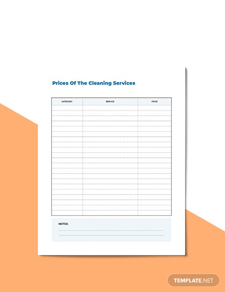 Cleaning Business Planner Example