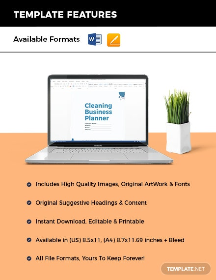 Cleaning Business Planner Instruction