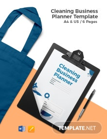 Cleaning Business Planner Template