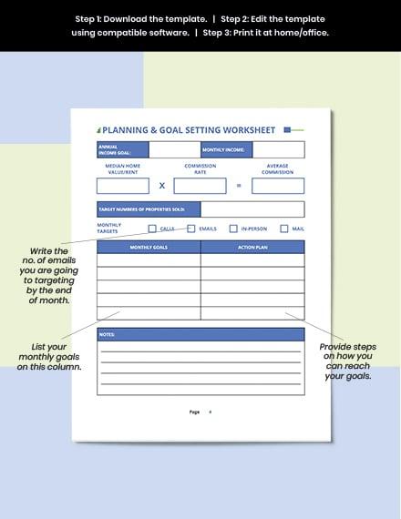 Printable Real Estate Business Planner