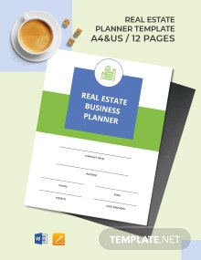Real Estate Business Planner Template