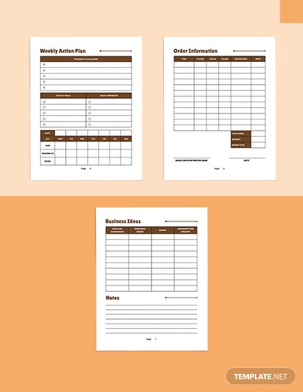 Bakery Business Planner Download