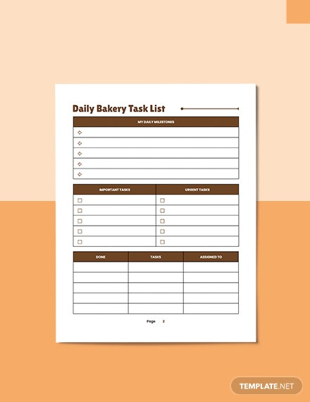 Bakery Business Planner Format
