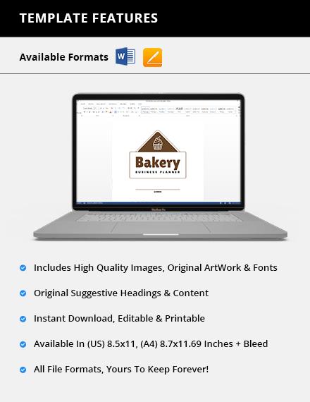 Editable Bakery Business Planner