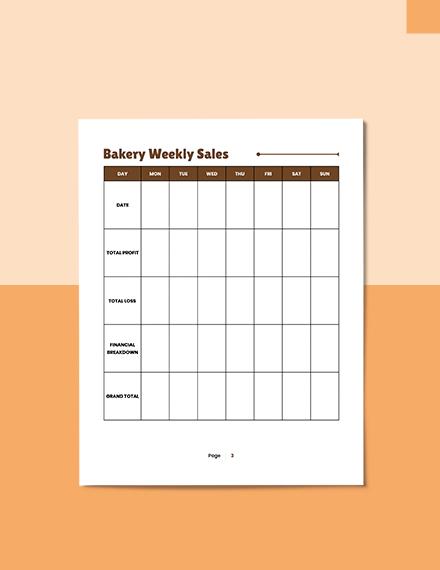 Sample Bakery Business Planner