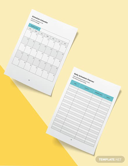 Virtual Assistant Business Planner Template Sample