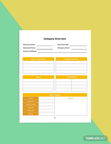 Startup Business planner template Sample
