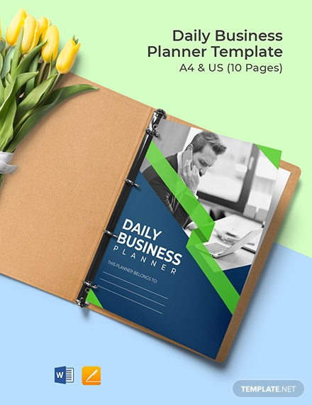Daily Business Planner Format