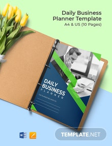 Daily Business Planner Template