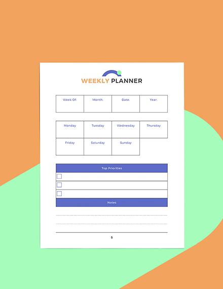 Digital Business Planner Example
