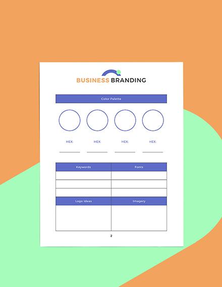 Digital Business Planner Format