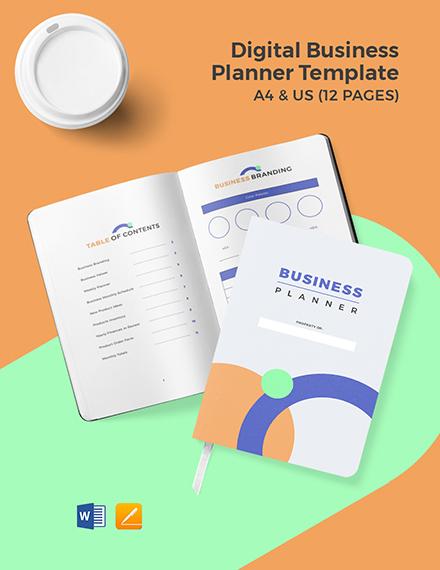 Digital Business Planner Template