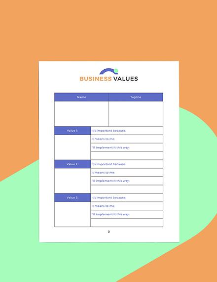 Sample Digital Business Planner