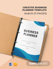 Creative Business Planner Template