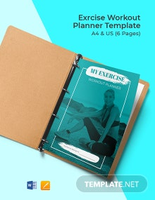 Exercise Workout Planner Template