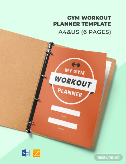 Gym Workout Planner Template