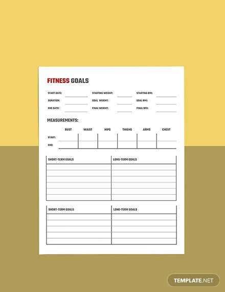 Monthly workout planner template Format