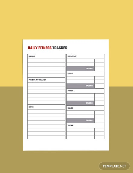 Monthly workout planner template Sample