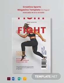 Free Creative Sports Magazine Template