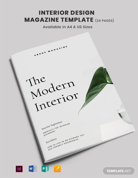 Interior Design Magazine Template