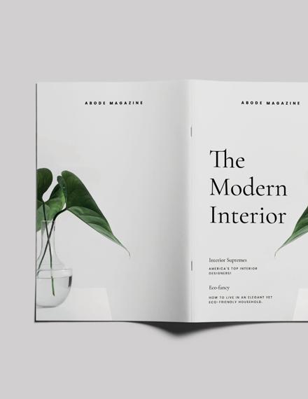 Sample Interior Design Magazine