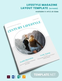 Lifestyle Magazine Layout Template