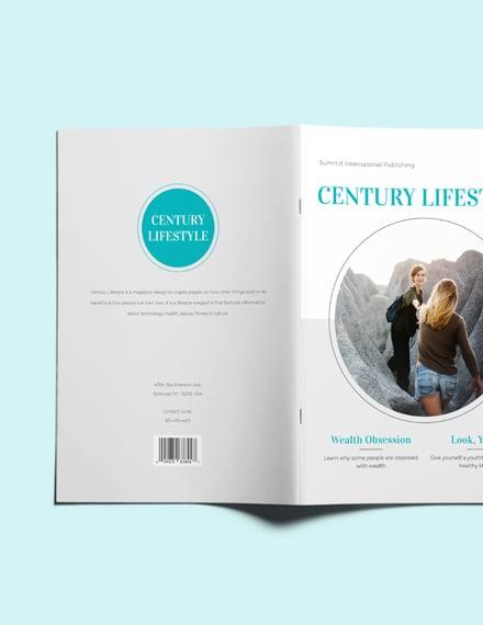Sample Lifestyle Magazine Layout