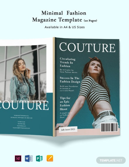 Free Minimal Fashion Magazine Template