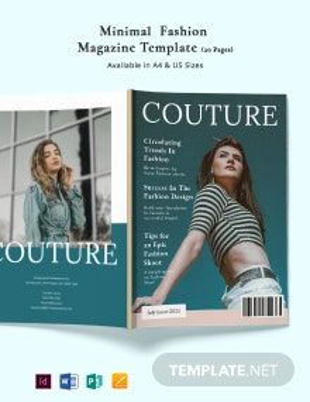 Minimal Fashion Magazine Template