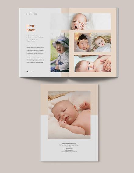 Sample Newborn Photography Magazine