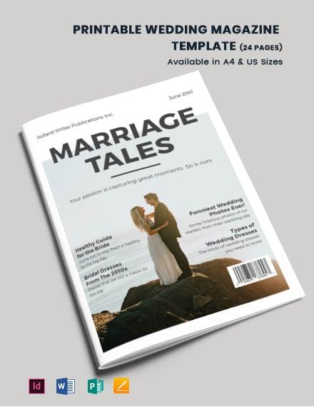 Free Printable Wedding Magazine Template