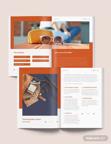 Product Magazine Layout Template