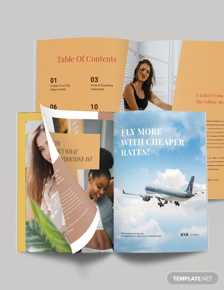 Product Magazine Template