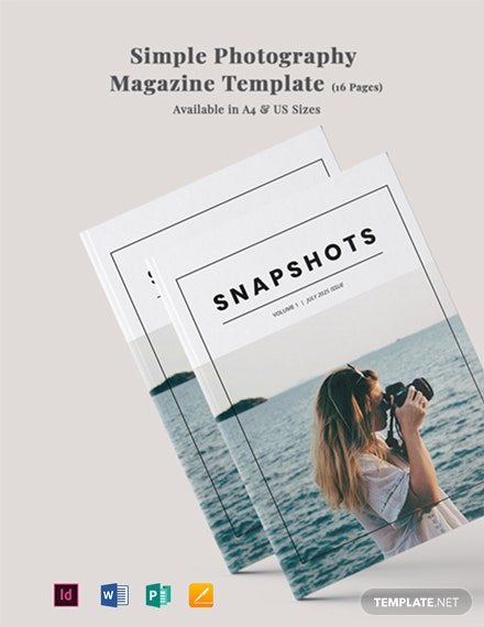 Simple Photography Magazine Template
