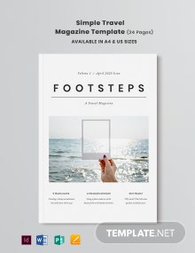 Free Simple Travel Magazine Template