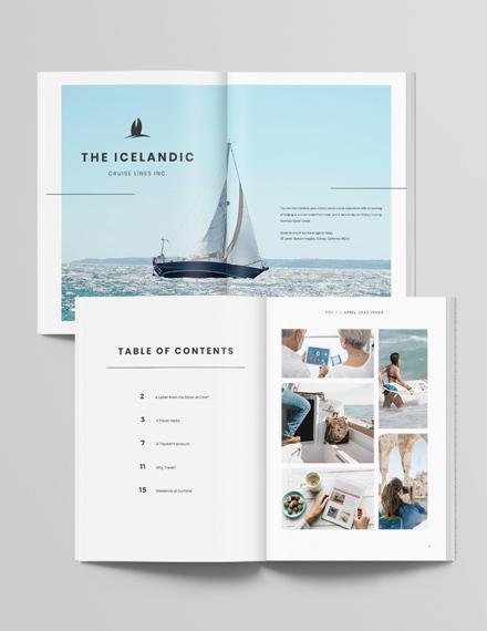Simple Travel Magazine Template