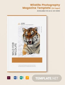 Wildlife Photography Magazine Template