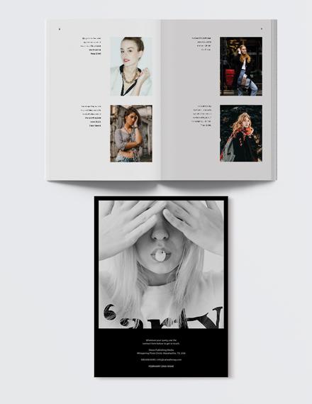 Sample Womens fashion Magazine
