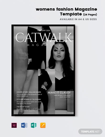 Women's fashion Magazine Template