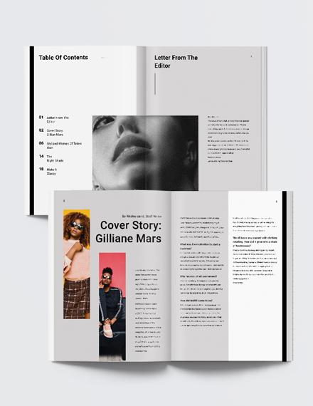 Womens fashion Magazine Template