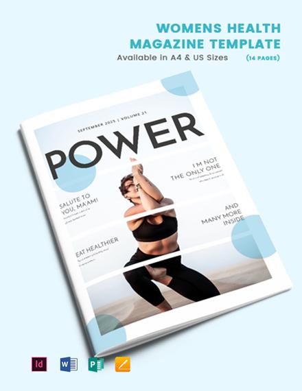 Women's Health Magazine Template