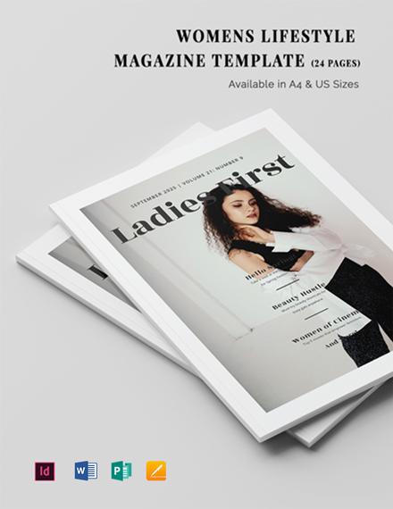 Women's Lifestyle Magazine Template