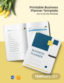 Free Printable Business Planner Template